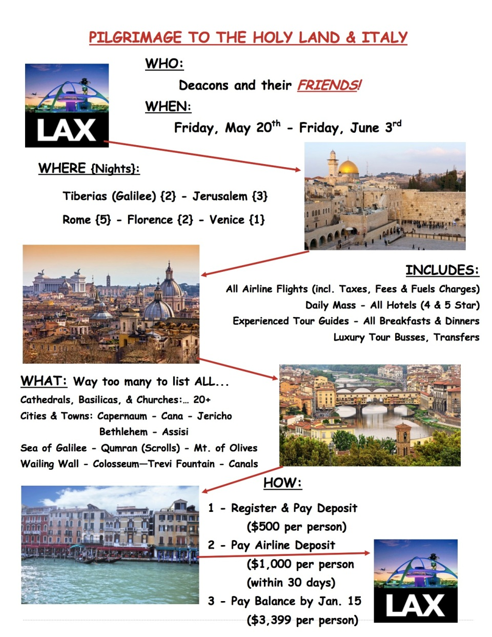 Deacon Jubilee Pilgrimage Flyer
